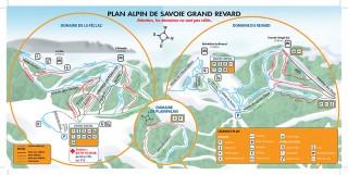 Plan du Domaine Alpin 2017