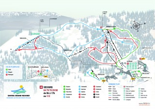 Plan du domaine alpin Féclaz et Plainpalais 2019