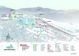Plan du domaine alpin du Revard 2019