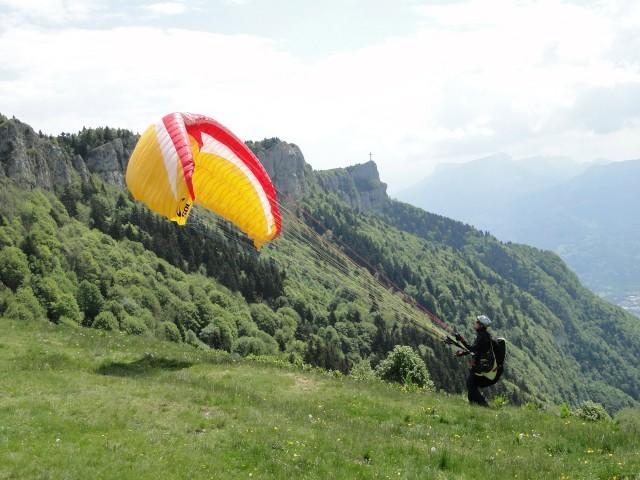 Décollage parapentes - Savoie Grand Revard