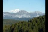 vue Mont Blanc à l'automne