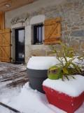 Arrivée au Croeju sous la neige