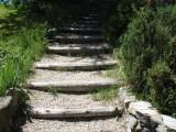 escaliers qui descendent au gîte depuis le parking  escaliers extérieurs qui descendent au gîte depuis le parking
