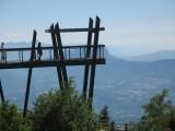 Belvédère du Revard avec vue sur Chambéry et Aix-les-Bains avec le lac du Bourget