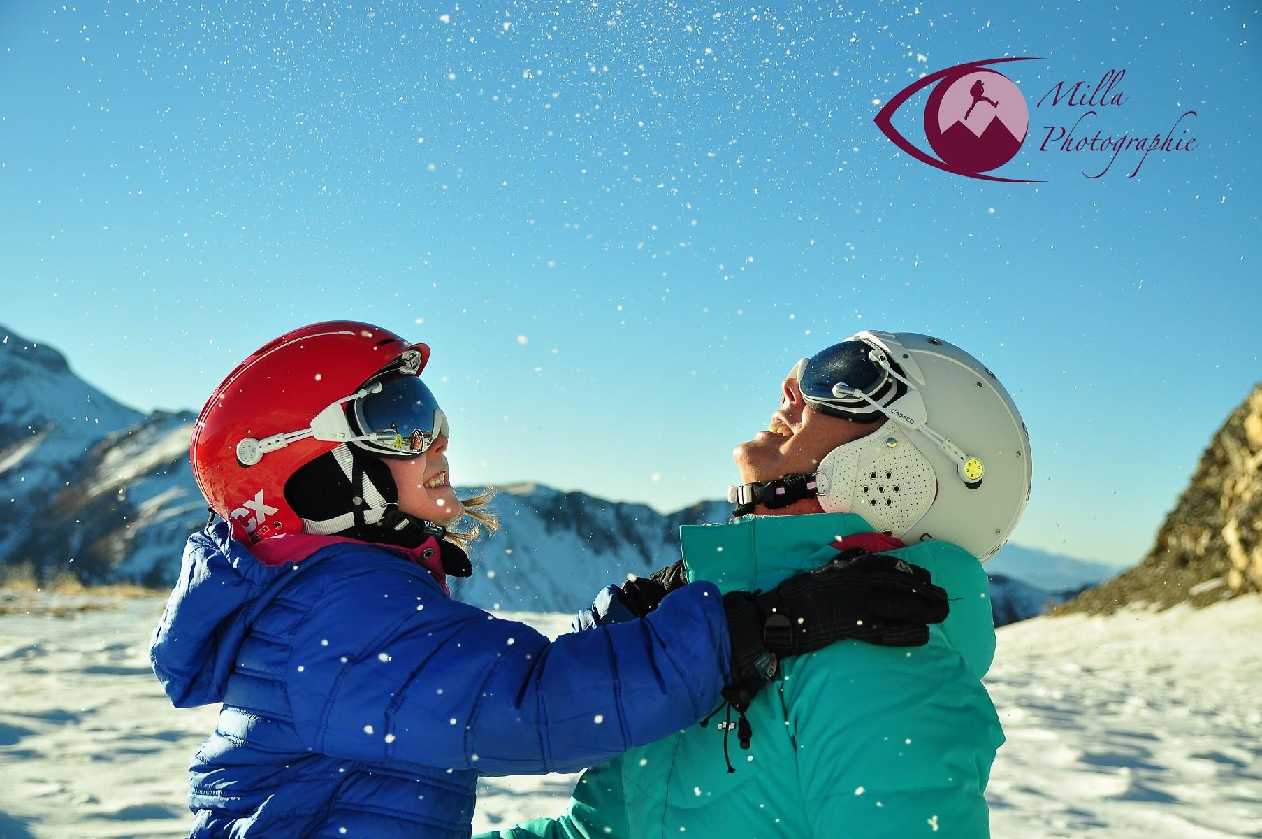 séance photo ski en famille